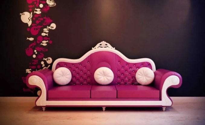 Fuschia Vintage Sofa