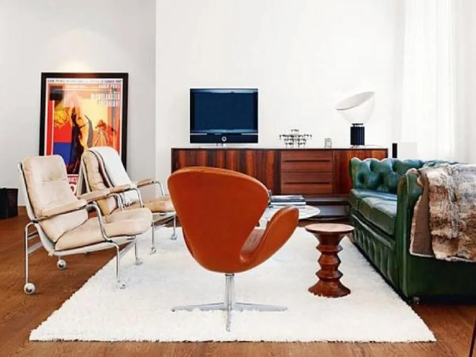 Stylish Mid Century Living Room