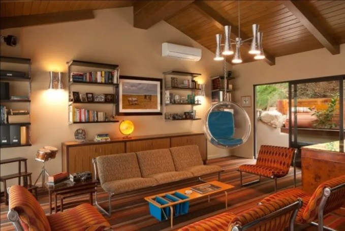 Warm Mid Century Living Room