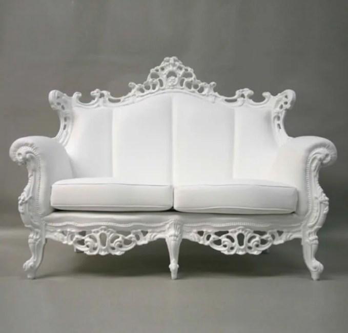 White Vintage Sofa