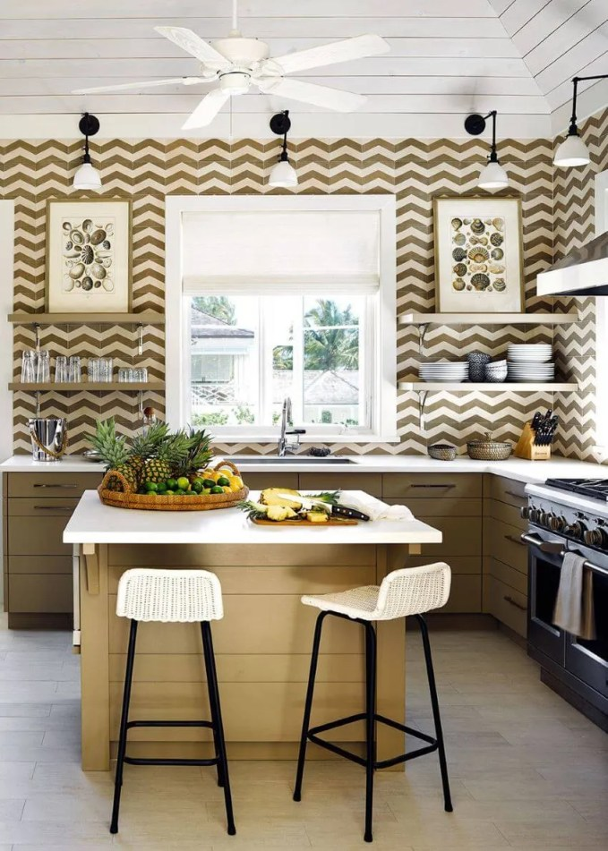 Artistic Kitchen With Open Shelving
