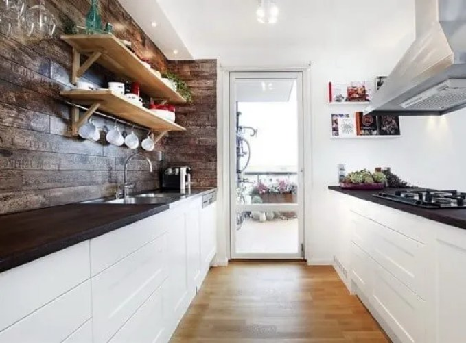 Calm Scandinavian Rustic kitchen