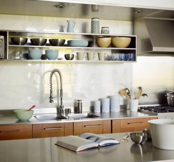 Casual Kitchen With Open Shelving