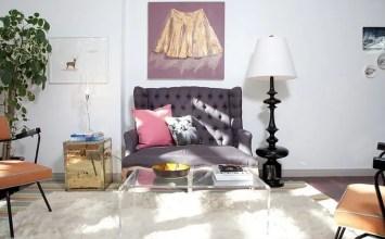Feminine Feel in 11 Bold Living Room Designs