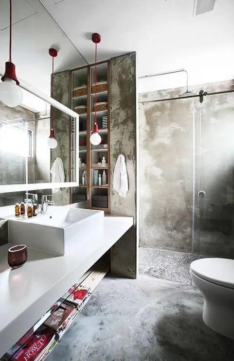 Concrete Indsutrial Bathroom