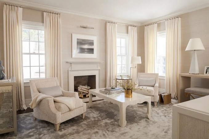 Creamy Feminine Living Room