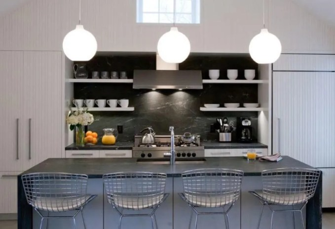 Indsutrial Kitchen With Open Shelving