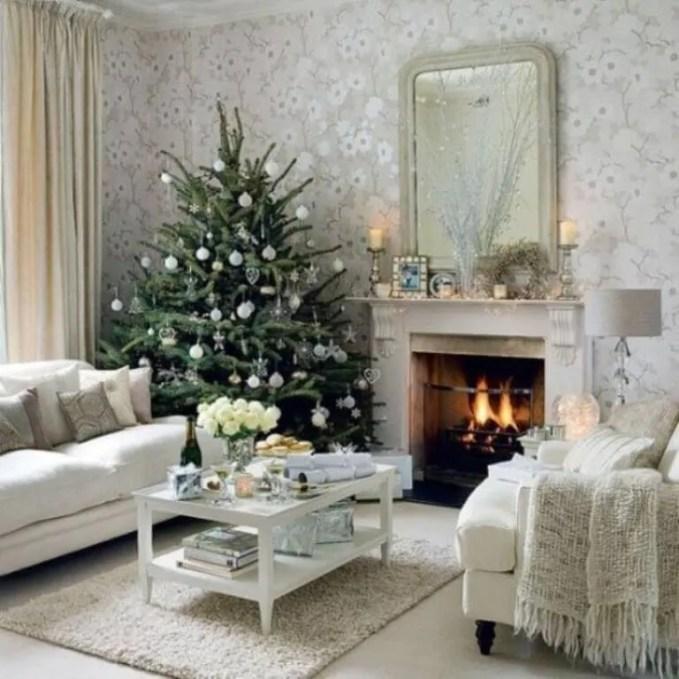 Chic Christmas Fireplace Mantel