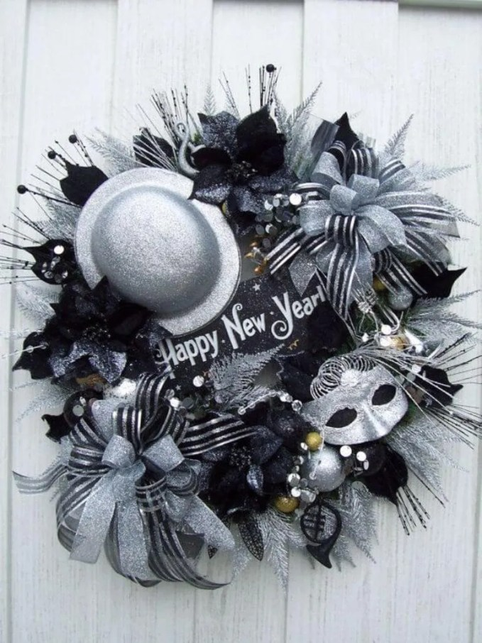 Classy Sparkly New Year Wreath