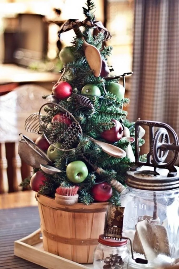 Fruity Tabletop Christmas Tree