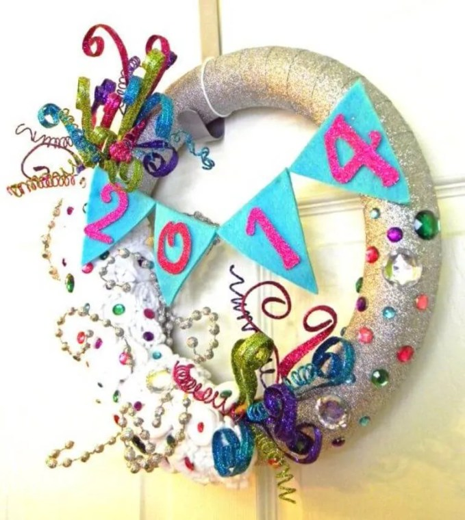 Lively New Year Wreath