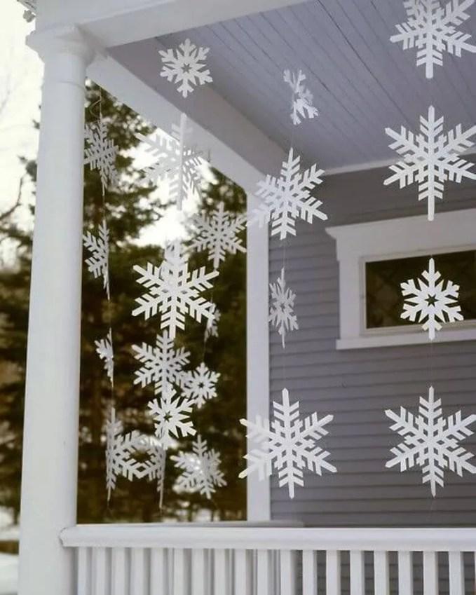 Paper Snowflake Christmas Garland