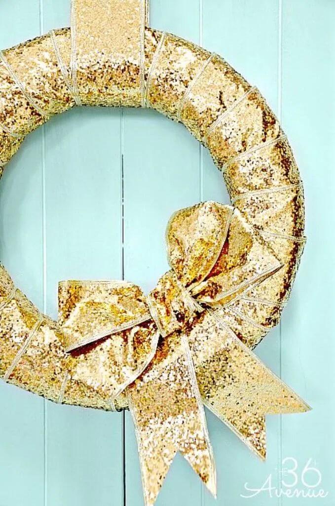 Sparkly New Year Wreath