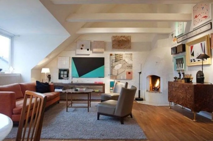 Artistic Attic Living Room