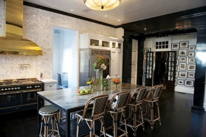 Black and Brass Kitchen