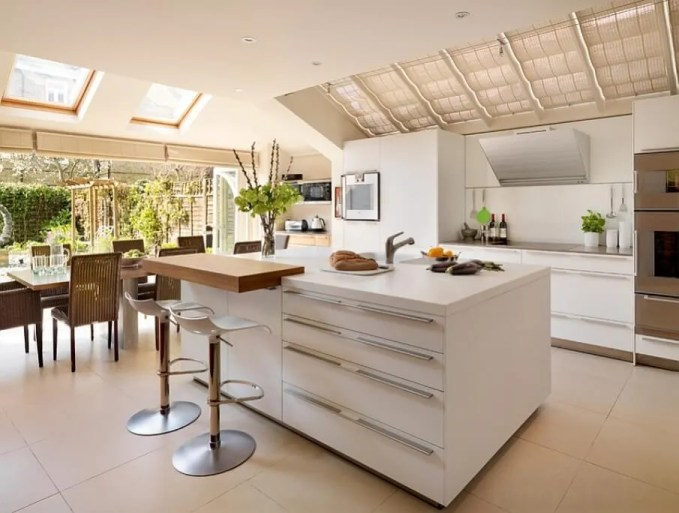 Bright Kitchen with Skylights