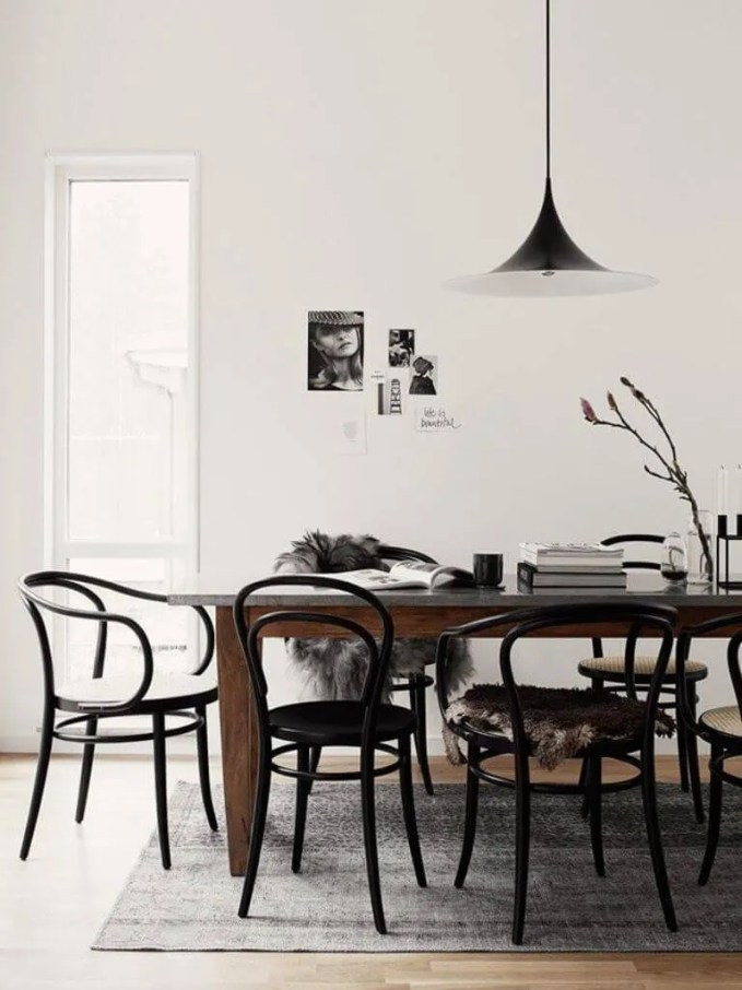 Chic High Contrast Dining Room