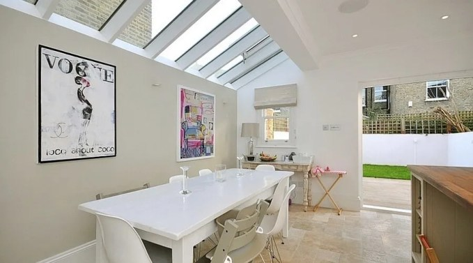 Chic Kitchen with Skylights