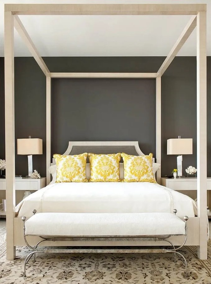 Classy Chic Gray and Yellow Bedroom