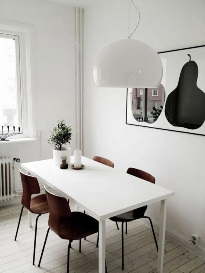 Contemporary High Contrast Dining Room