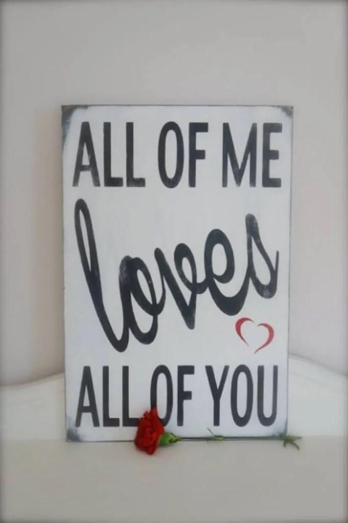 Creative Valentine's Sign