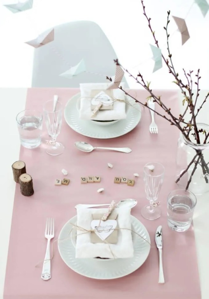 Interesting Valentine;s Table setting