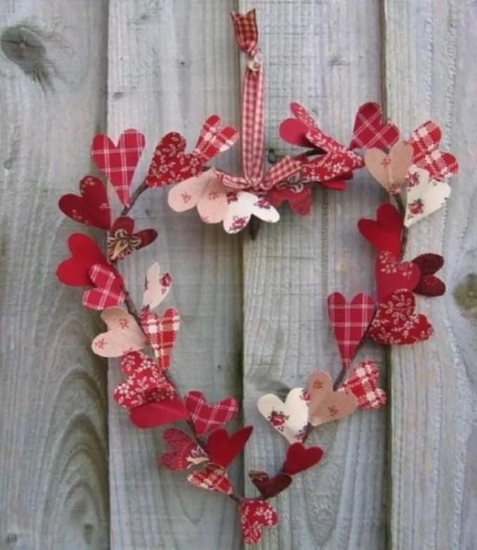 Patchwork Hearts Wreath