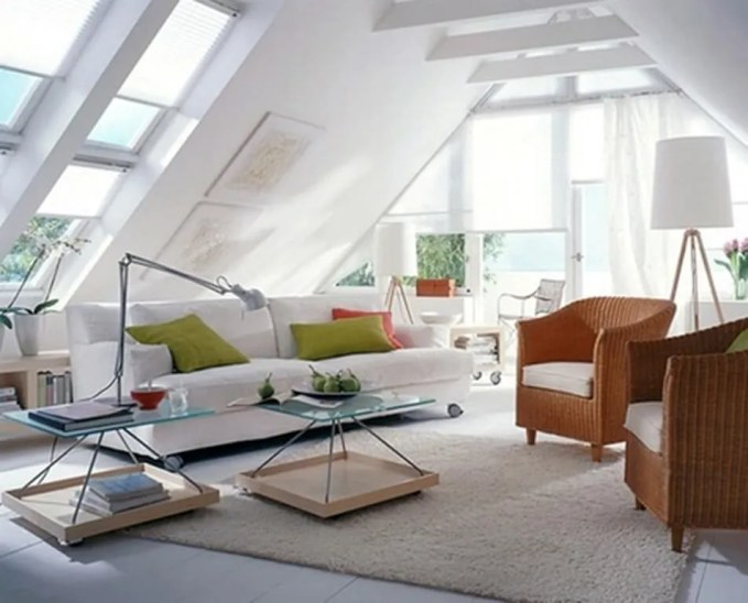 Perky Attic Living Room