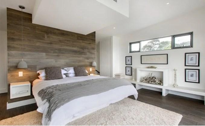 Refreshing Bedroom with Wood Paneling