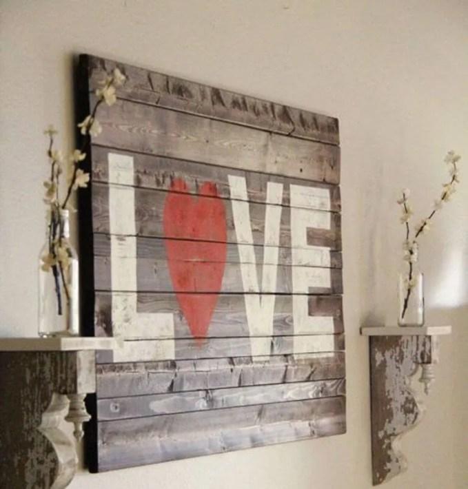 Rustic Valentine's Sign