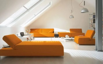 9 Magnificient Tangerine and White Living Room Design Ideas