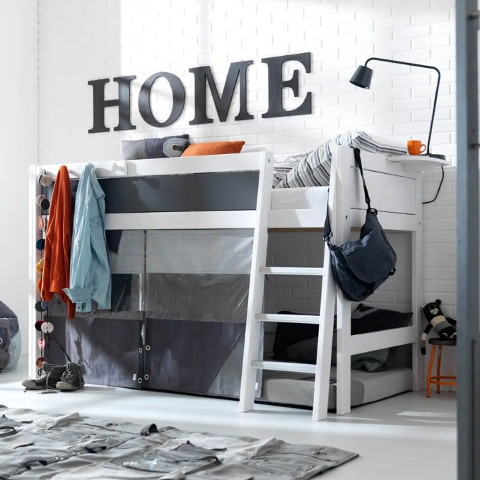 Black and White Bunk Bed