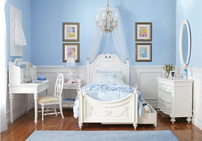 Blue Princess Themed Bedroom