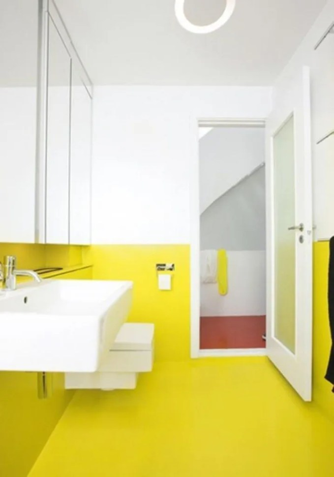 Color Block Bathroom