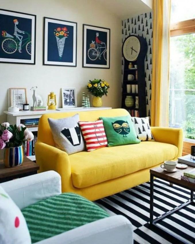 Comfy Yellow Sofa Design