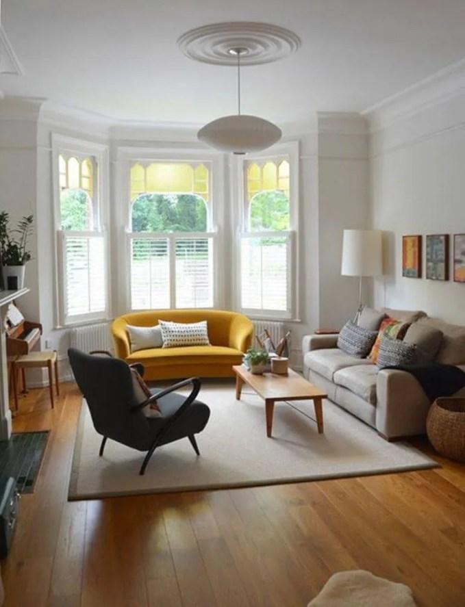 Curved Yellow Sofa Design