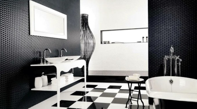 Geometric High Contrast Bathroom
