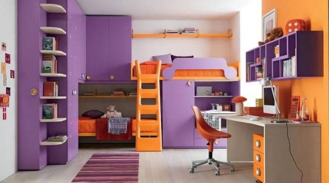 Purple Orange Bunk Bed