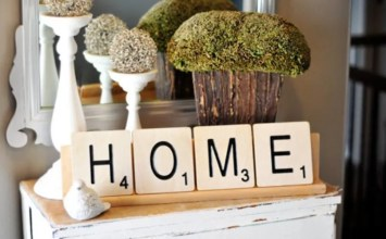 Innovative and Witty Decorating with Scrabble- 7 Great Ideas