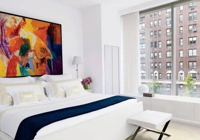 Bold White Contempoary Bedroom