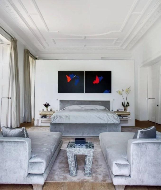 Classy White Contempoary Bedroom