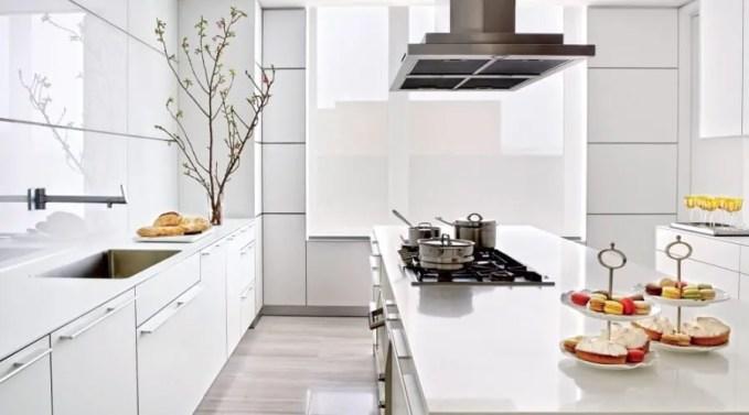 High Tech White Kitchen