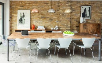 Exposed Brick Walls In 10 Cool Dining Room Design Ideas