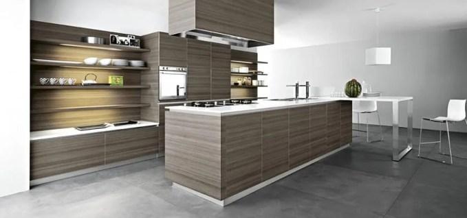 Teak Contemporary Kitchen