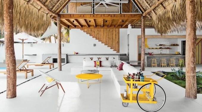 Yellow Bar Cart