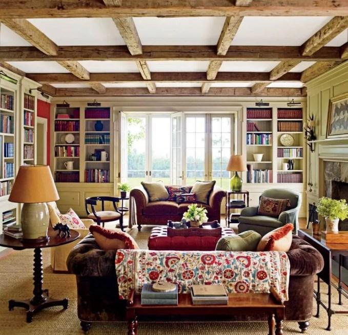 Charming Farmhouse Inspired Living Room