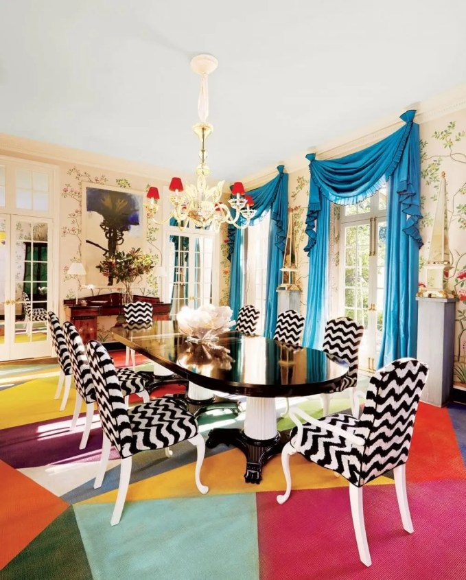 Chic Colorful Dining Room