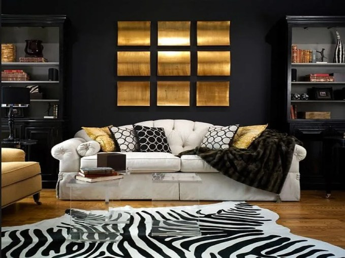 Gold and Black Living Room
