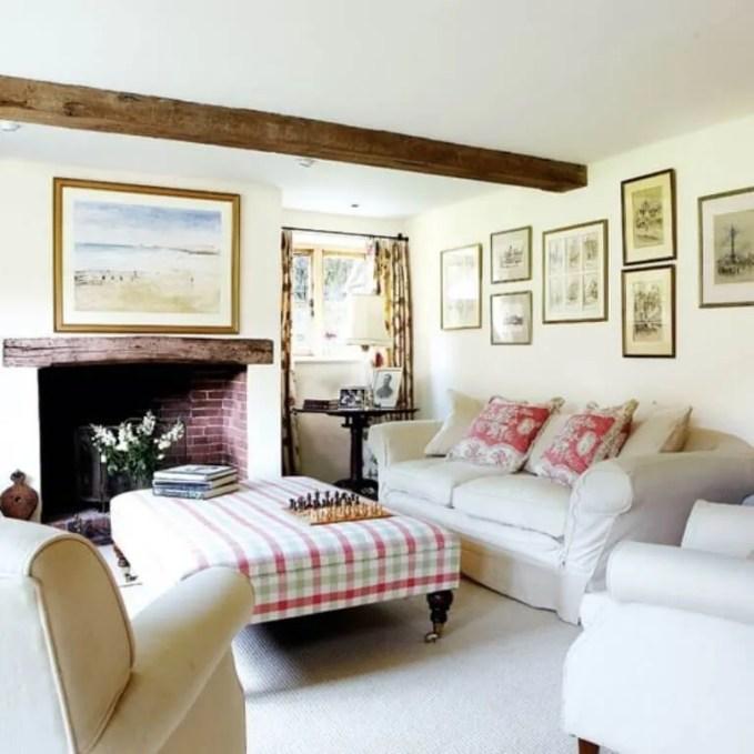 Luminous Farmhouse Inspired Living Room