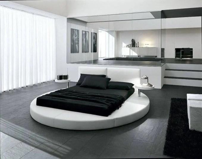 Minimalist Round Bed